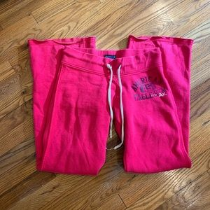 American Eagle Pink Bootcut Sweatpants